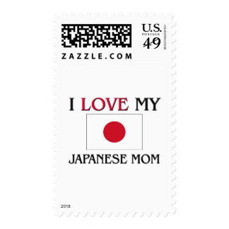 I Love My Japanese Mom Postage Stamp