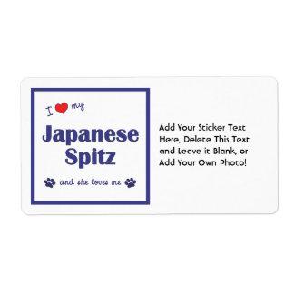 I Love My Japanese Spitz (Female Dog) Shipping Label
