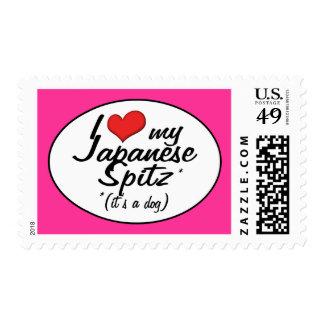 I Love My Japanese Spitz (It's a Dog) Stamp