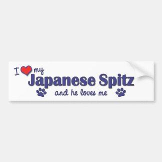 I Love My Japanese Spitz (Male Dog) Bumper Stickers