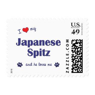 I Love My Japanese Spitz (Male Dog) Postage Stamp