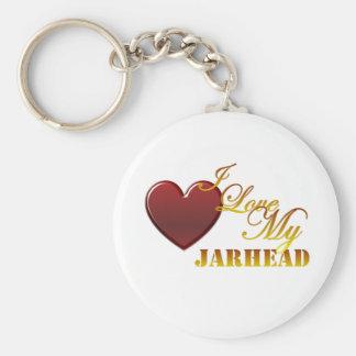 I Love My Jarhead 1 Keychain