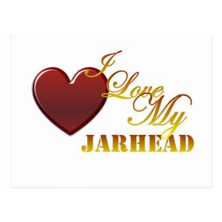 I Love My Jarhead 1 Postcard
