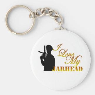 I Love My Jarhead 3 Keychain