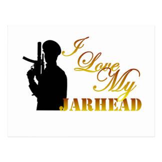I Love My Jarhead 3 Postcard