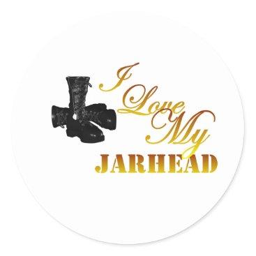 I Love My Jarhead 4 Classic Round Sticker