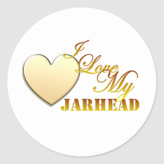 I Love My Jarhead Classic Round Sticker
