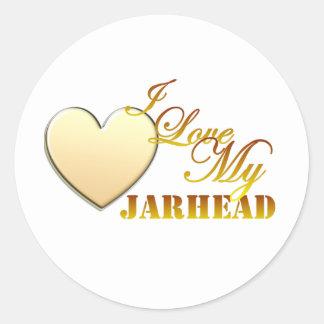 I Love My Jarhead Classic Round Sticker