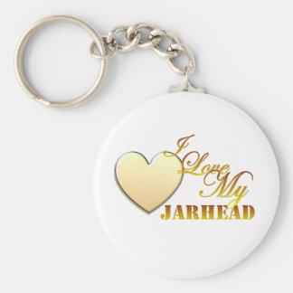 I Love My Jarhead Keychain