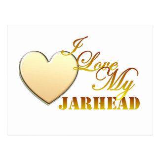 I Love My Jarhead Postcard