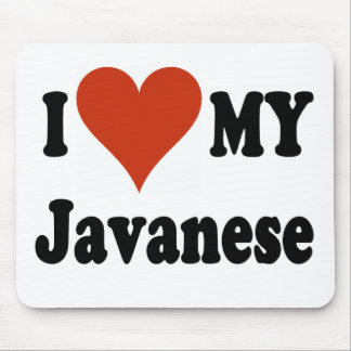 I Love My Javanese Cat Merchandise Mouse Pad