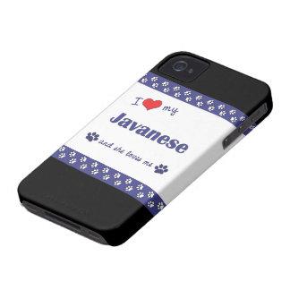 I Love My Javanese (Female Cat) Case-Mate iPhone 4 Case