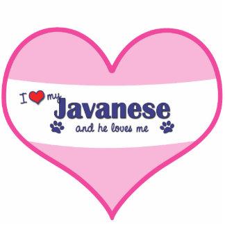 I Love My Javanese (Male Cat) Statuette