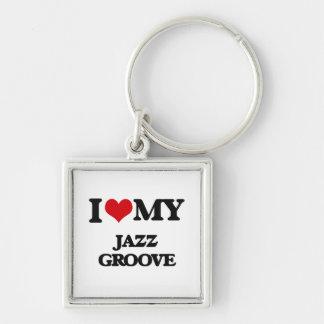 I Love My JAZZ GROOVE Key Chain