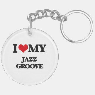 I Love My JAZZ GROOVE Acrylic Key Chains