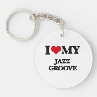 I Love My JAZZ GROOVE Acrylic Keychains