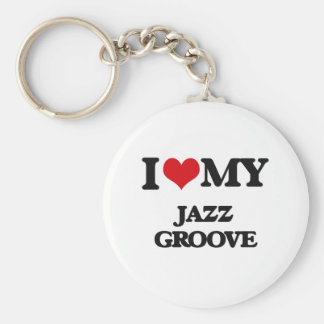 I Love My JAZZ GROOVE Keychains