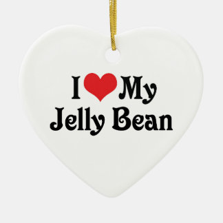 I Love My Jelly Bean Ceramic Ornament