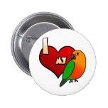 I Love my Jenday Conure Button