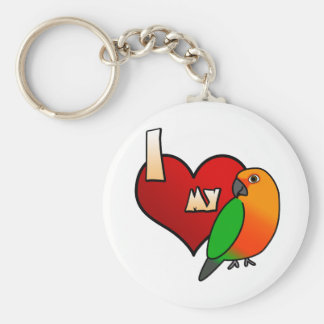 I Love my Jenday Conure Keychain