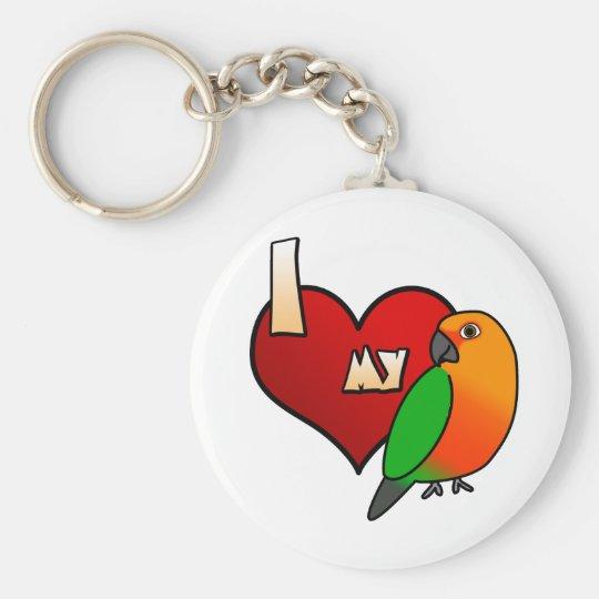 I Love my Jenday Conure Keychain