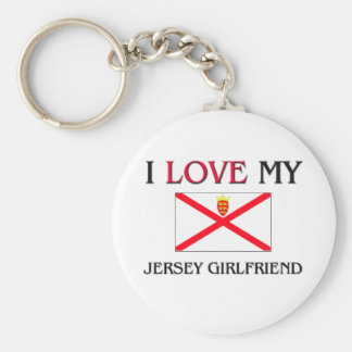 I Love My Jersey Girlfriend Keychain