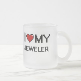 I love my Jeweler 10 Oz Frosted Glass Coffee Mug