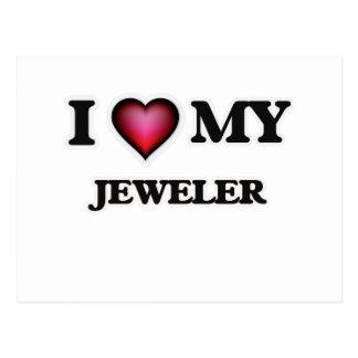 I love my Jeweler Postcard
