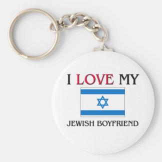 I Love My Jewish Boyfriend Keychain