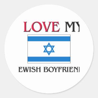 I Love My Jewish Boyfriend Stickers