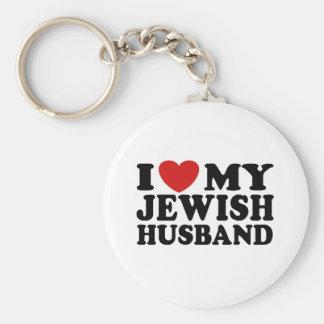 I Love My jewish Husband Keychain