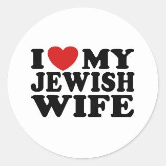 I Love My jewish Wife Sticker