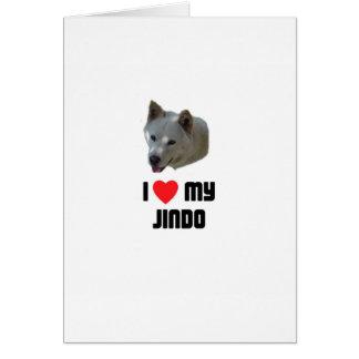 I Love My Jindo Card