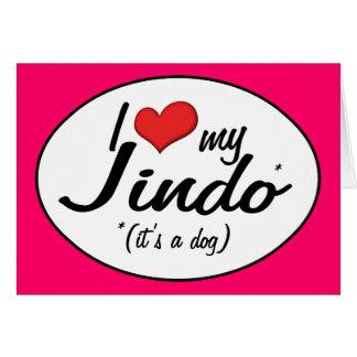 I Love My Jindo (It's a Dog) Card