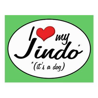 I Love My Jindo (It's a Dog) Postcard