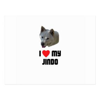 I Love My Jindo Postcard