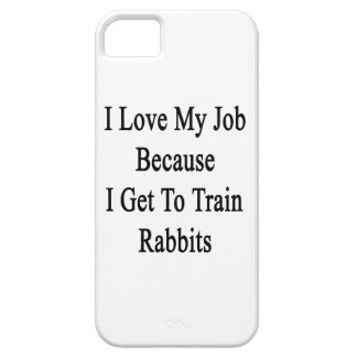 I Love My Job Because I Get To Train Rabbits iPhone 5 Covers