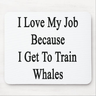 I Love My Job Because I Get To Train Whales Mouse Pad