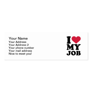 I love my job Double-Sided mini business cards (Pack of 20)