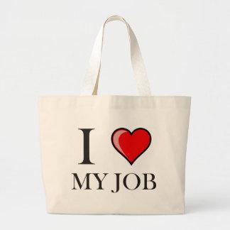 I love my job canvas bag