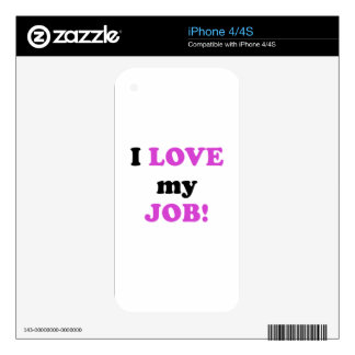 I Love my Job Decal For iPhone 4