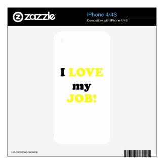 I Love my Job iPhone 4S Skin