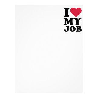 I love my job letterhead design