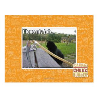 I love my job postcard