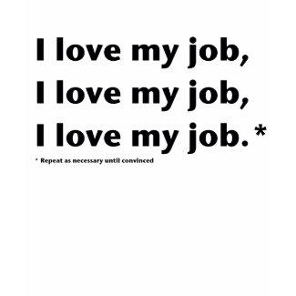 I Love My Job Women's T-Shirt shirt