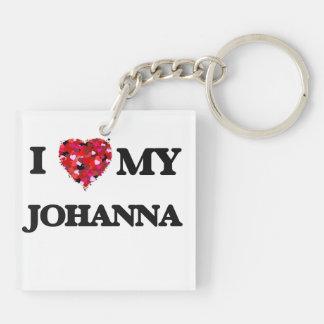 I love my Johanna Double-Sided Square Acrylic Keychain
