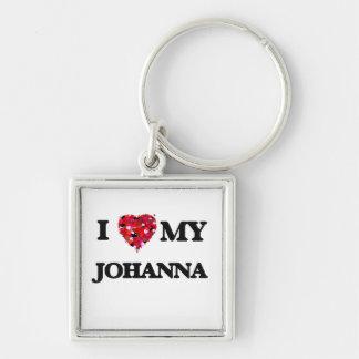 I love my Johanna Silver-Colored Square Keychain