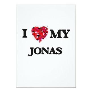 I love my Jonas 5x7 Paper Invitation Card