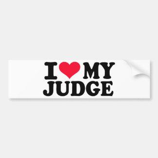 I love my Judge Bumper Stickers