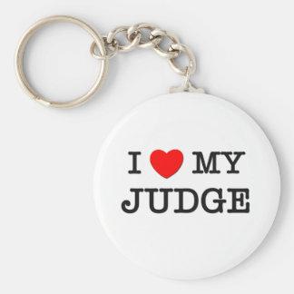 I Love My JUDGE Keychain